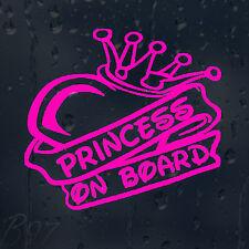 Princess On Board Car Window Windscreen Body Panel Laptop Decal Vinyl Sticker