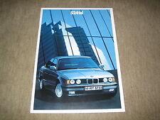 BMW 5er 524td E34 Limousine Prospekt Brochure von 2/1989, 34 Seiten
