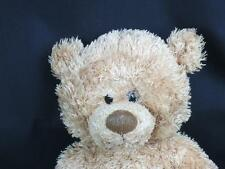 BIG PLUSH BARNABUS GUND BROWN TEDDY BEAR GOLD BOW 46020 BABY SOFT LOVEY NO BOW