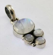 RAINBOW MOONSTONE PENDANT 925 STERLING SILVER ARTISAN JEWELRY COLLECTION R381A