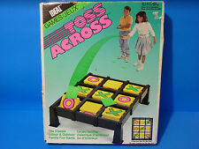 Vintage 1990 Ideal TOSS ACROSS Family Game Beanbag Tic-Tac-Toe Game/w Box FUN!!