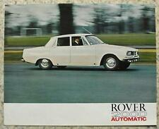 ROVER 2000 AUTOMATIC Car Sales Brochure c1969 #694