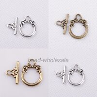 Wholesale 30sets Tibetan silver Toggle Jewelry Clasp Findings