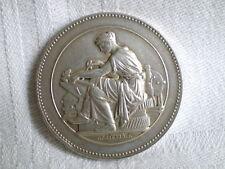 MEDAILLE DE RECOMPENSE EN ARGENT TISSU TEXTILE 1894