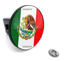 "2"" Tow Hitch Receiver Plug Cover Insert For SUV's & Trucks - ""MEXICAN FLAG"""