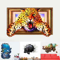 3D Animal/Underwater PVC Sticker Wall Stickers Wallpaper Living Room Decoration