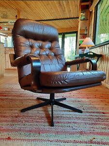 Armchair Swivel Chair Vintage 60er Retro Easy 70er Danish Modern 60s