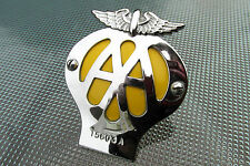 RARE SMALL AA BADGE WITH MIRROR STEM BRACKET FOR CLASSIC SPORTSCARS