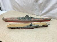 Vtg Revell Model Lot of 2pc Battle Ship Missouri  World War 2 Era Built Models