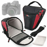 DURAGADGET Medium Top-Loader Carry Case with Shoulder Strap for Pentax X5, 645D