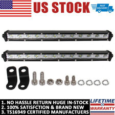 2X 13Inch 36W LED Work Light Bar Spot Off-road Driving 4WD LAMP ATV UTE Truck US