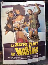 cinema-affiche originale- LA ZEZETTE PLAIT AUX MARINS - EROTIQUE 120x160