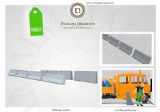 10 Verkehrsleitblöcke Betonschutzwand Mittelstreifen H0 DioramaOberrhein 6817