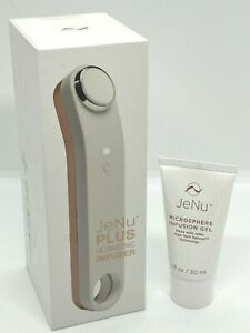 JeNu Plus Ultrasonic Infuser With 3 Microsphere Infusion Gel 1oz. Charger New