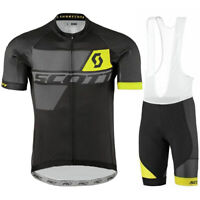 Men Cycling Jersey Bib Short Bicycle Set Bike Motocross MTB Shirt Scott Ride Top