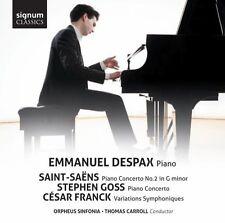 Emmanuel Despax - SaintSaens Goss Franck Piano Concertos [CD]