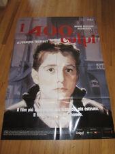 400 Blows Italian re release poster Francois Truffaut Jean Pierre Leaud 39x55