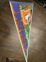 Denver Broncos VINTAGE 90's Denver Broncos 1994 PENNANT Rare OOP