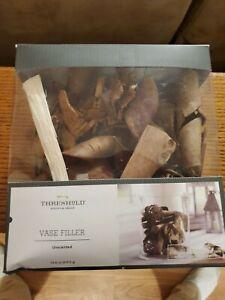 Unscented Wood Vase Filler Brown - Threshold 14.8 Ounces