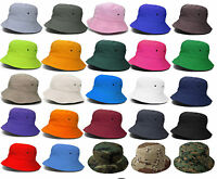 Boonie Visor Sun Summer Camp Fishing Military Safari Bucket Hat Cap Mens Womens