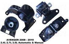 4pc Motor Mount fit 2.4L 2.7L 3.5L 2007 - 2010 Chrysler Sebring Dodge Avenger