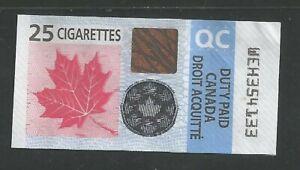 Canada Tobacco Stamp - Cigarette Quebec - used