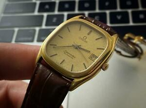 Men's Vintage 1984-85 Gold Plated Omega Seamaster Automatic Wrist Watch