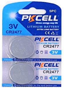 ☀️☀️☀️☀️☀️ 2 x CR2477 3V Lithium Batterie 900 mAh ( 1 Card 2 Batterien ) PKCELL