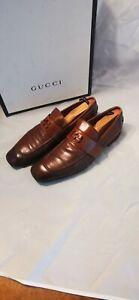 Rare Gucci brown GG strap  Men's Jordaan style. Size 9 us