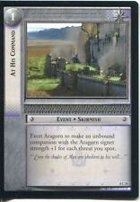 Lord Of The Rings CCG Card SoG 8.C31 At His Command