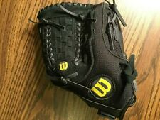 "Wilson A300 black baseball glove 12"" youth"