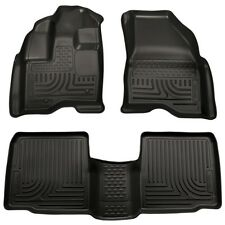 2011 2012 2013 Ford Explorer Husky WeatherBeater Front & 2nd Row Floor Liners