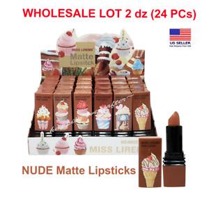 MISS LIRENN MATTE NUDE LIPSTICKS - WHOLESALE BOX 2 dz (24 PCs) Lipsticks