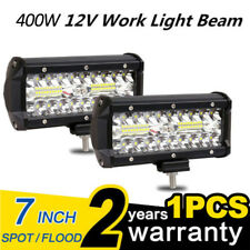 "7"" inch 400W LED Work Light Bar Flood Spot Beam Offroad SUV Driving Fog Light VV"
