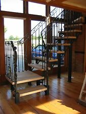 Wrought Iron and Oak staircase , made in the UK ( Hand made )