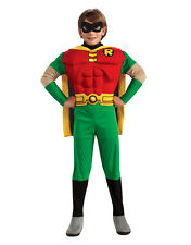 """Teen Titans Kids Robin Muscle Costume,Large,Age 8-10, HEIGHT 4' 8"""" - 5'"""