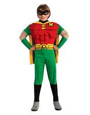 """Teen TITANS Bambini Robin Muscoloso Costume, Grande, età 8-10, altezza 4' 8"""" - 5'"""