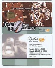 carte a puce demo trial salon Oberthur RUGBY Team up salon 2003