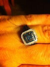 Blue And White Diamond Ring Sz 7. 0.55 CTW