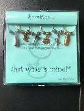 Wine Glasses Charms Ring Set Of 6