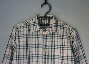 Authentic Luxury Kids BURBERRY Nova Check Beige Cotton Shirt Size 3 Years