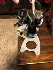 Vintage CARL ZEISS Microscope With 20x Eyepieces And Light Transformer