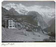 Suisse, Wengen Hotel Bellevue Vintage albumen print Tirage albuminé  18x24