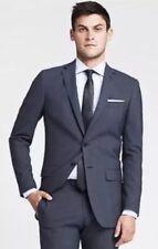 Authentic Banana Republic Men Size 40 R Monogram Blue Italian Fabric Blazer $450