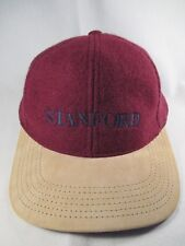 Stanford Genuine Leather Red Adjustable Baseball Cap Hat Great Condition