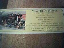 news item 1992 advert waverley hotel rowson whitley bay