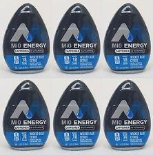 6 Mio Energy Liquid Water Enhancer WICKED BLUE CITRUS 108 Servings Total
