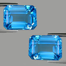Emerald Shaped Blue Loose Topazes