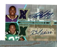 Adrian Peterson Brandon Jackson Auto Jersey 13/25 Vikings Packers