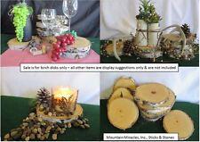 "4 pieces 7-8""x1"" White Birch Wood Tree Log Slice Round Disk Wedding Rustic Decor"